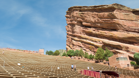 Red Rocks by day
