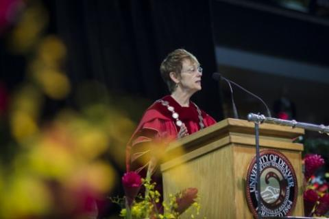 Chancellor Chopp at Commencement