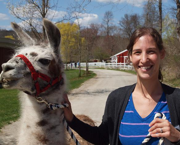 Alison Leslie with llama